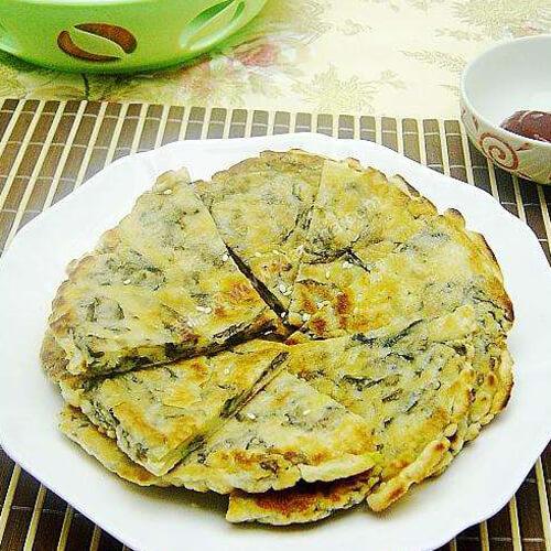 紫菜火腿鸡蛋饼