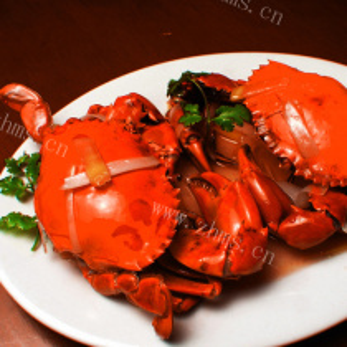 葱姜水煮螃蟹