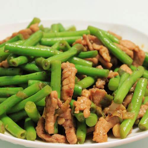 【美味可口】四季豆炒肉