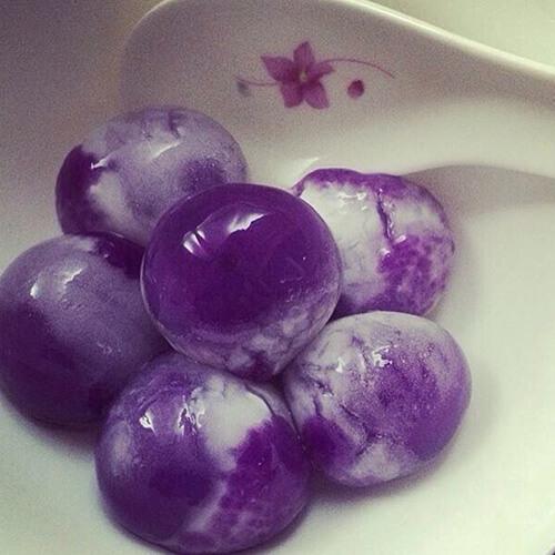 #回忆#紫薯汤圆