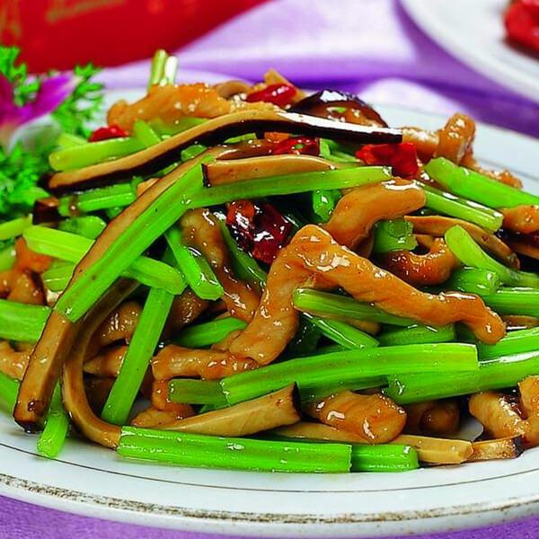 芹菜豆干肉丝