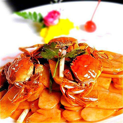 毛蟹(六月黄)炒年糕