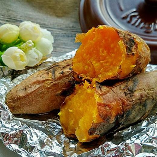 美味的砂锅烤红薯(地瓜)