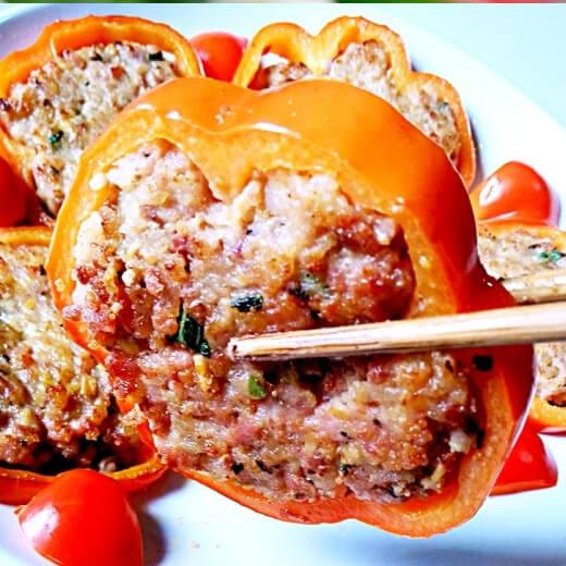 肉末彩椒圈