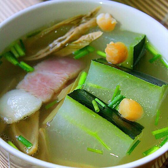 东瓜咸肉汤