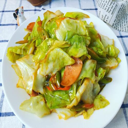 青椒火腿包菜