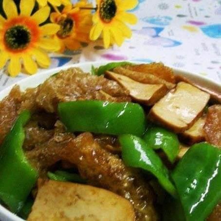 油豆腐烧茄子