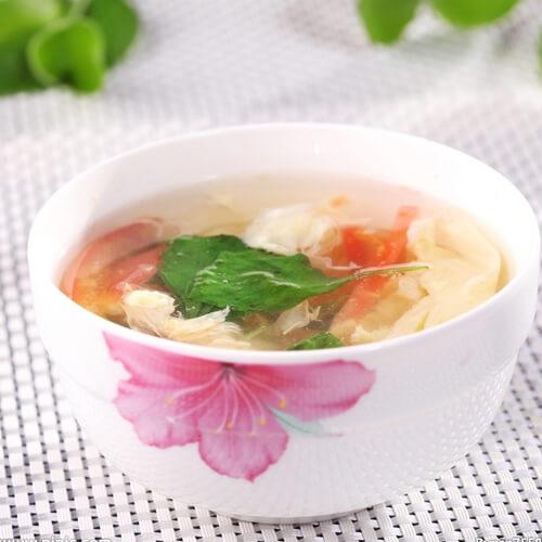 鸡蛋番茄鞭笋汤