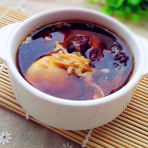 红糖红枣炖鸡蛋