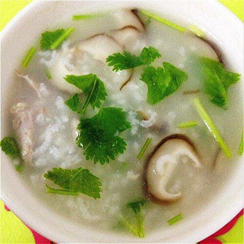 香菇瘦肉菜粥