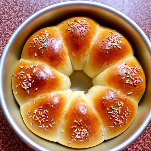 椰丝花朵面包