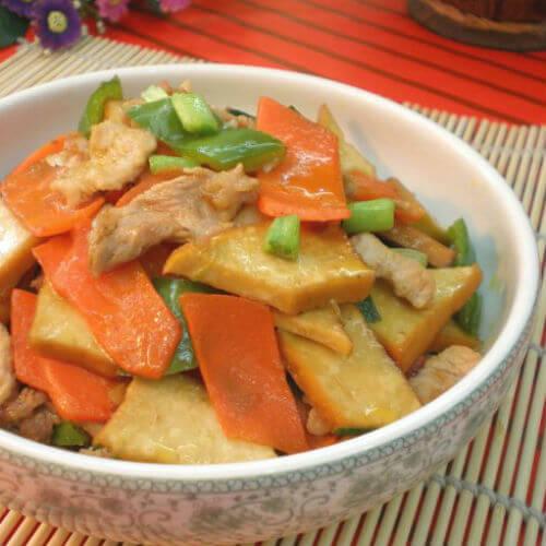 豆干胡萝卜炒肉
