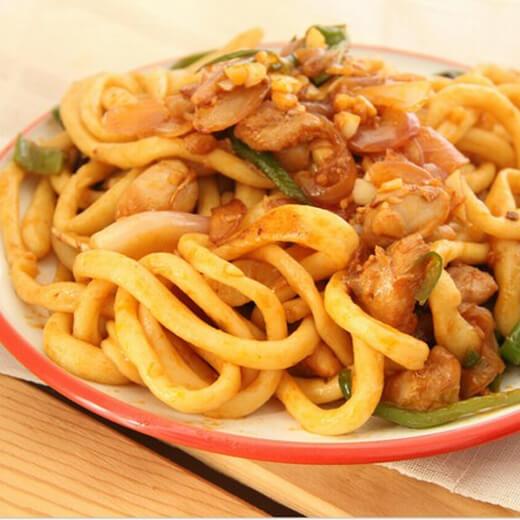 鸡肉青椒炒面