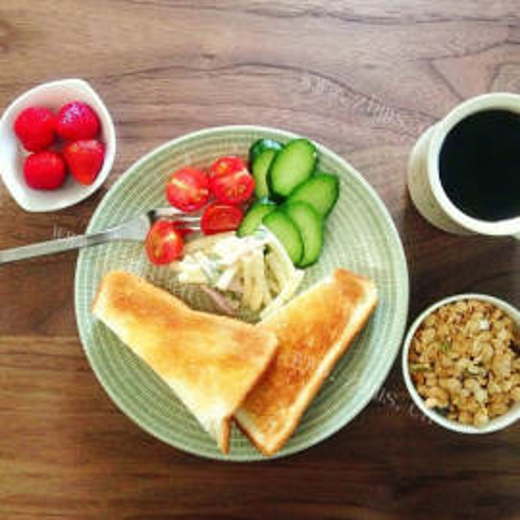 超简便美味微波炉早餐