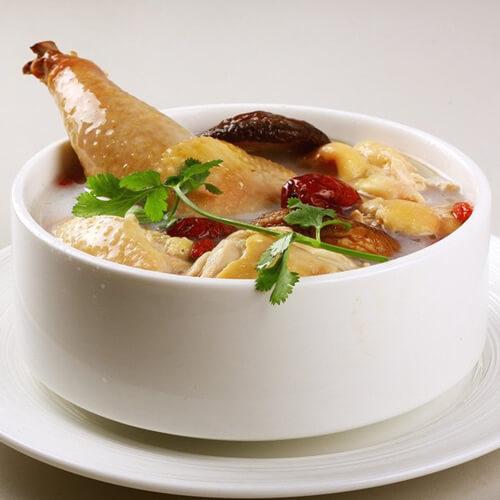 自制油饼母鸡汤