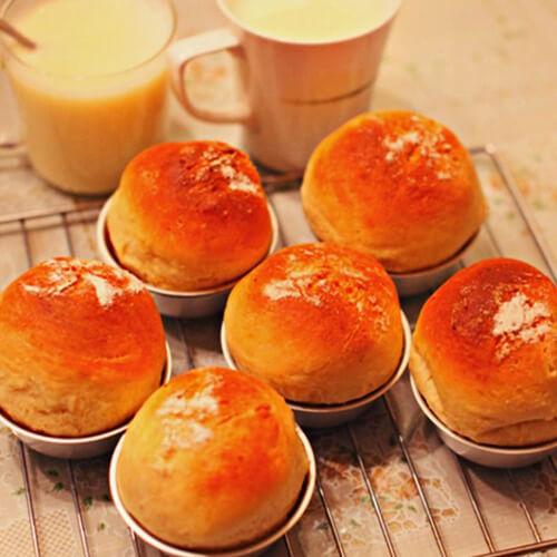 好吃的花生椰蓉馅早餐包
