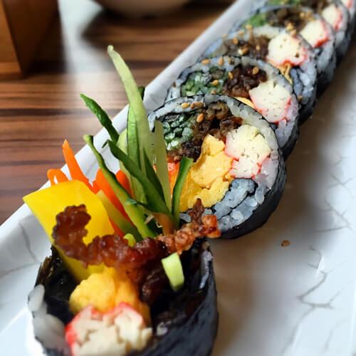 金针菇紫菜包饭