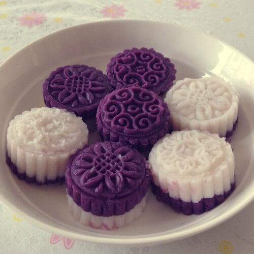 健脾开胃紫薯山药糕