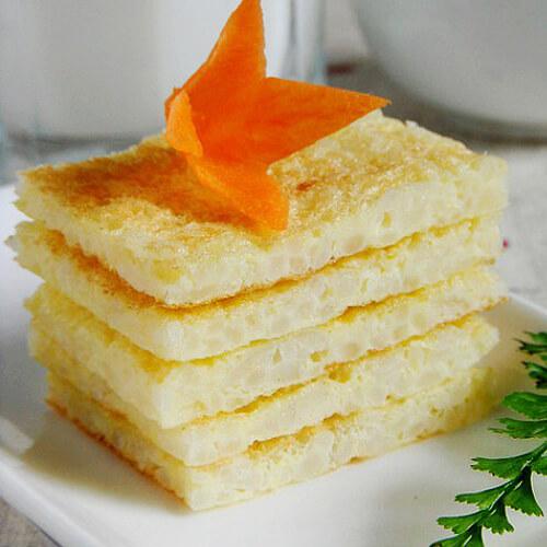 酥香鸡蛋白糖面饼