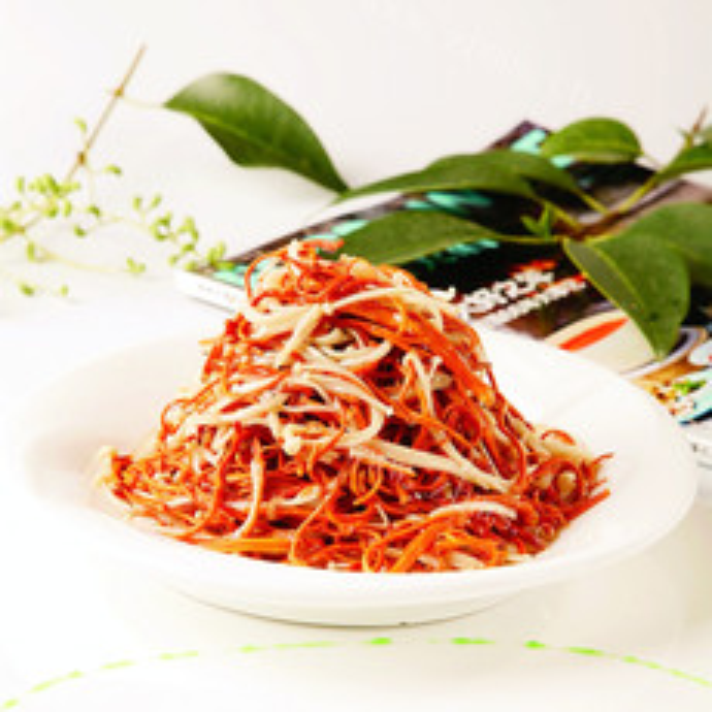 美味的虫草花拌金针菇