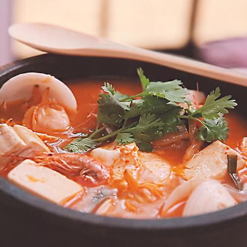 海鲜秀珍菇豆腐
