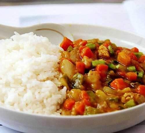 肉丁杂蔬咖喱饭