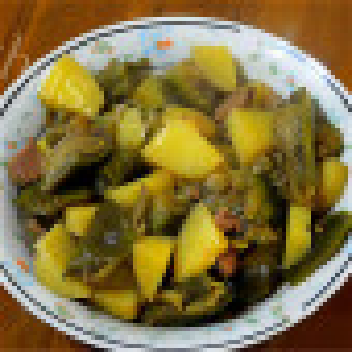 #爱美食#茄子炖土豆