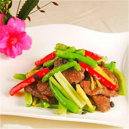 高笋炒牛肉
