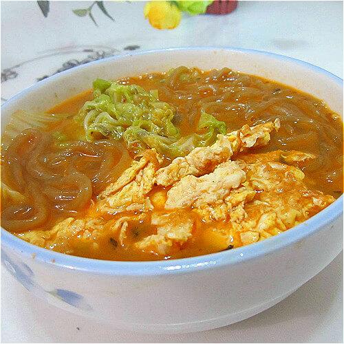 营养白菜鸡蛋粉丝汤