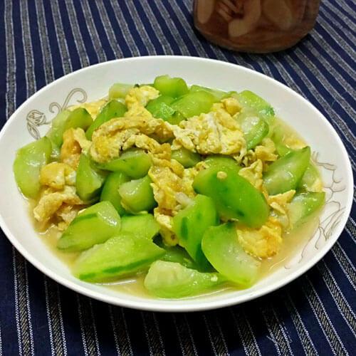 健康美食之丝瓜炒蛋