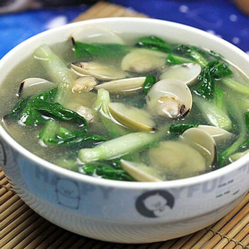 蛤蜊小白菜汤