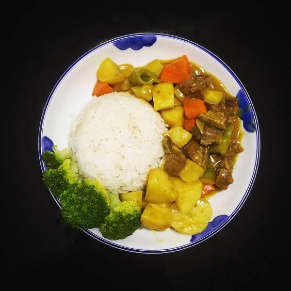咖喱牛肉双色菜花