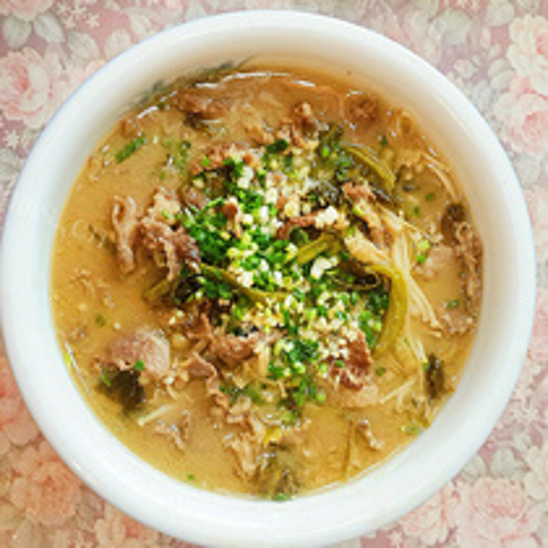 酸辣甜金针菇汤