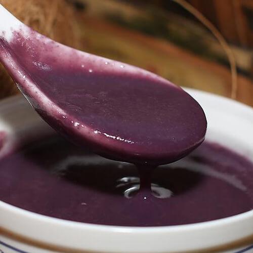 低脂热饮紫薯红米糊