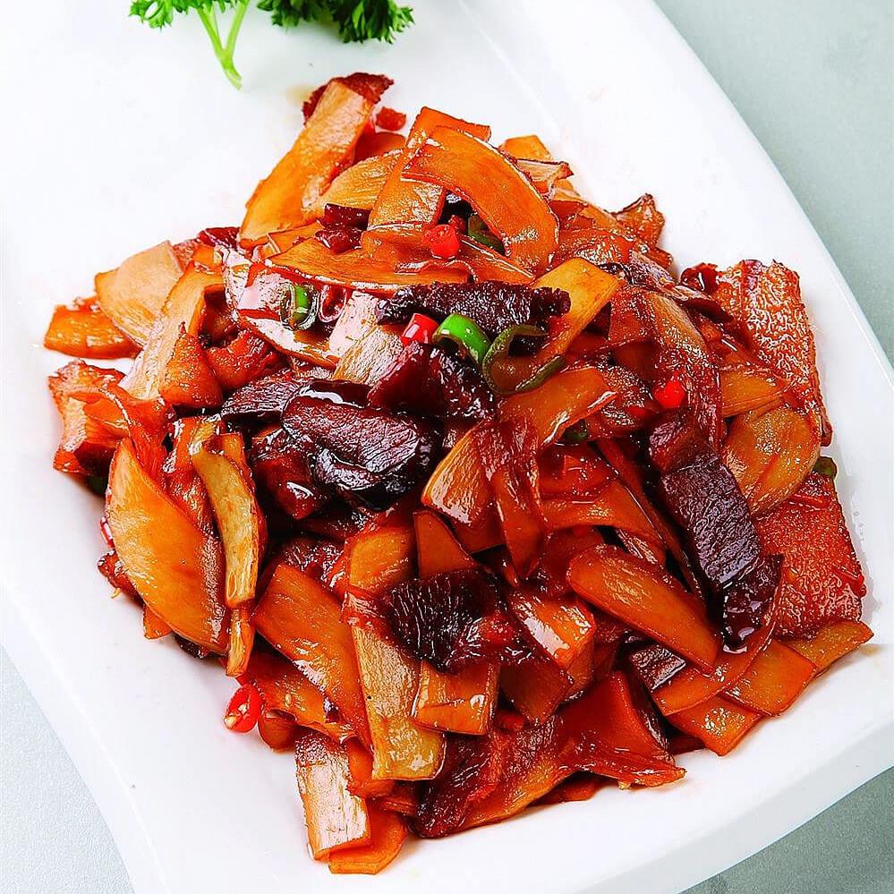 鲜杏鲍菇炒腩肉