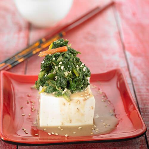 超级美味的菠菜豆腐