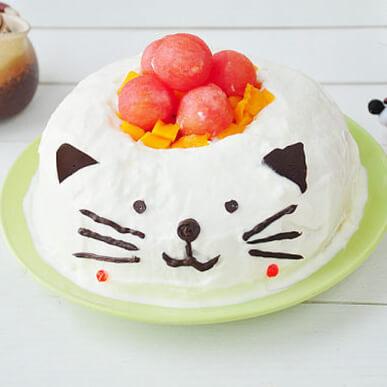 猫 咪水果奶油蛋糕