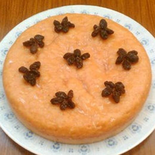 自制杂粮葡萄干红糖发糕