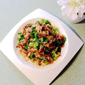 生炒牛肉生菜姜粒饭