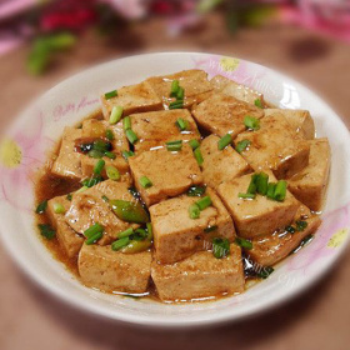 虾酱炒豆腐