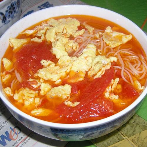 西红柿蘑菇鸡蛋面