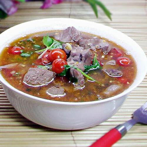 番茄腰花肉沫汤