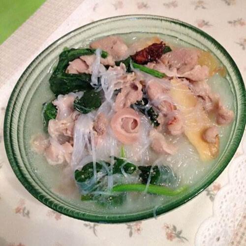 菠菜羊肉粉丝汤