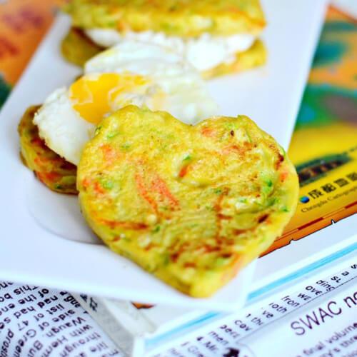 蔬菜煎蛋三明治