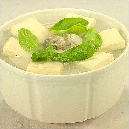 犒劳自己的海蛎子炖豆腐