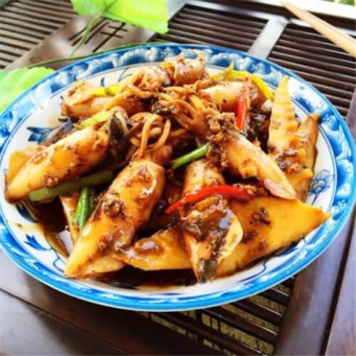 竹笋榄菜焖籽乌