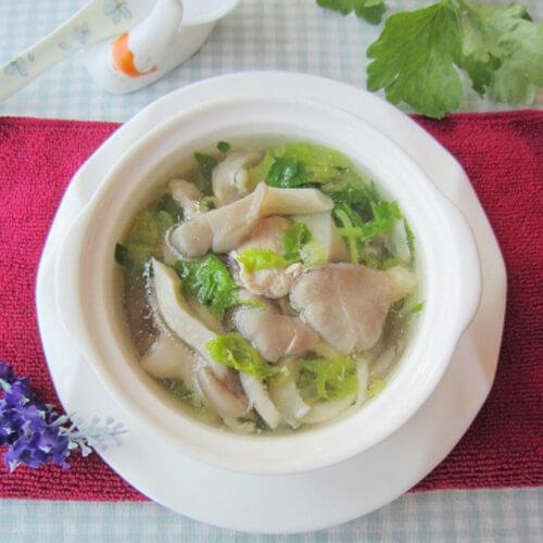 美味咸肉秀珍菇蛏子汤