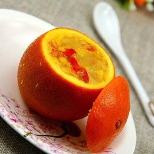 橙子西米盅
