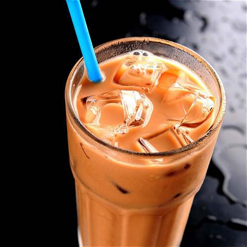 红豆沙玄米冰奶茶
