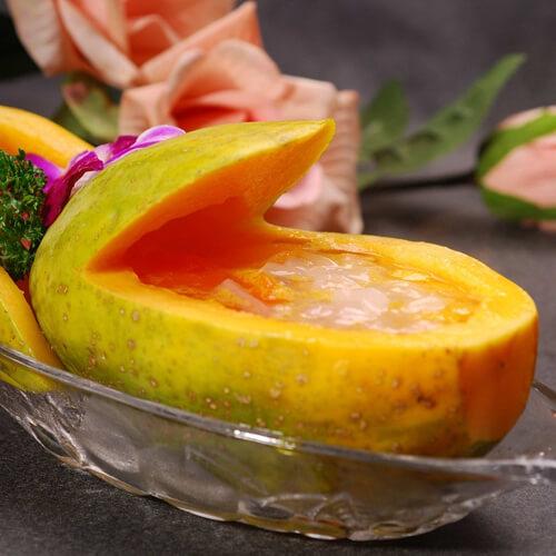 椰香西米木瓜船